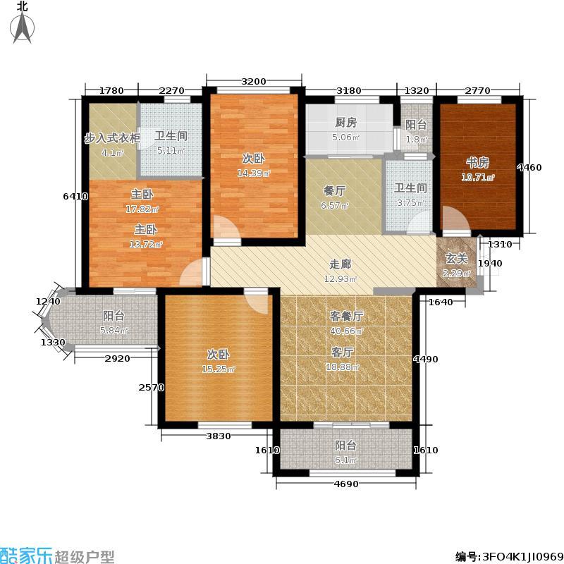 国润城144.42㎡8号楼C1-2户型4室2厅