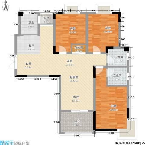 华谊城3室0厅2卫1厨142.00㎡户型图
