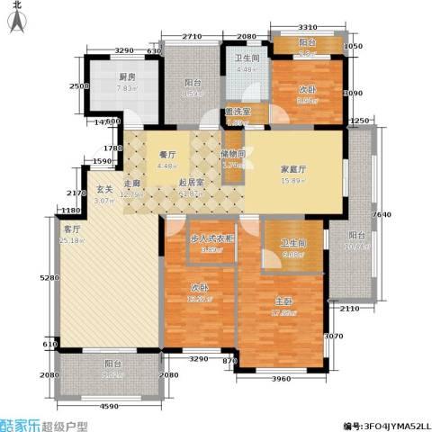 香江湾3室0厅2卫1厨179.00㎡户型图