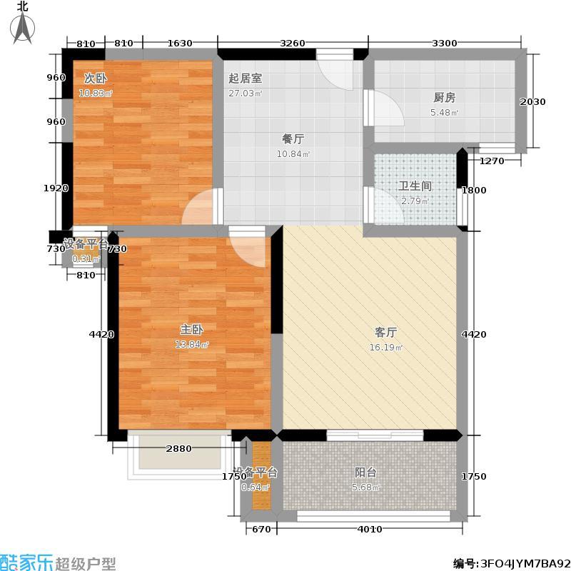 怡水花园77.57㎡15#楼D户型