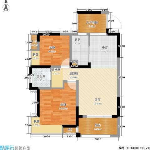 丰源国际御璟台2室0厅1卫1厨82.00㎡户型图