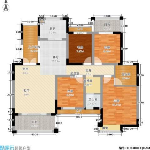丰源国际御璟台4室0厅2卫1厨142.00㎡户型图