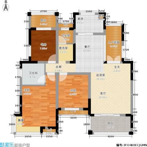丰源国际御璟台3室0厅2卫1厨123.00㎡户型图