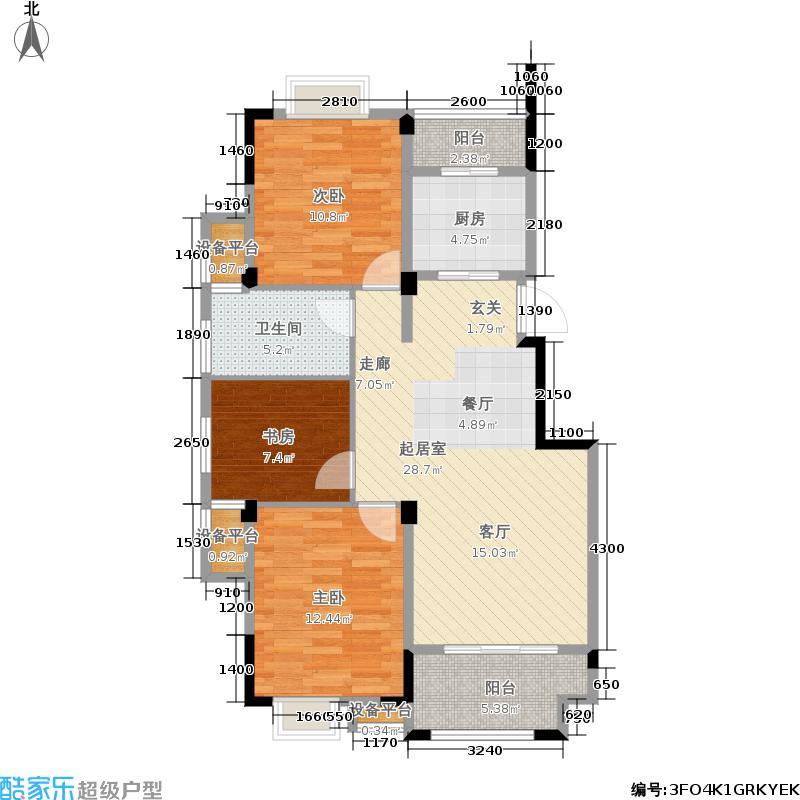 广源国际社区98.89㎡4期49栋与48栋2-9层A户型