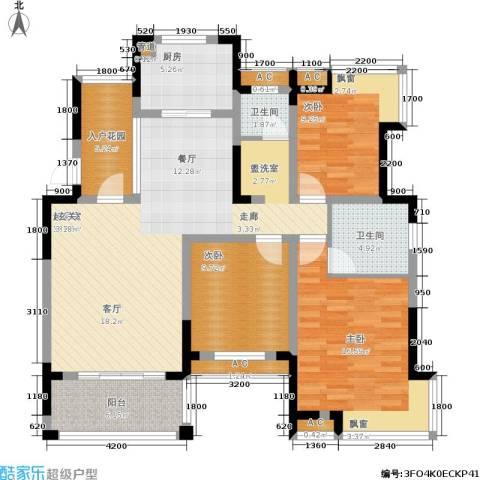 丰源国际御璟台3室0厅2卫1厨120.00㎡户型图