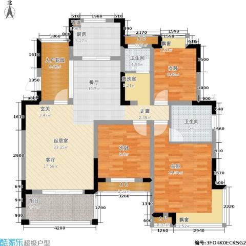 丰源国际御璟台3室0厅2卫1厨121.00㎡户型图