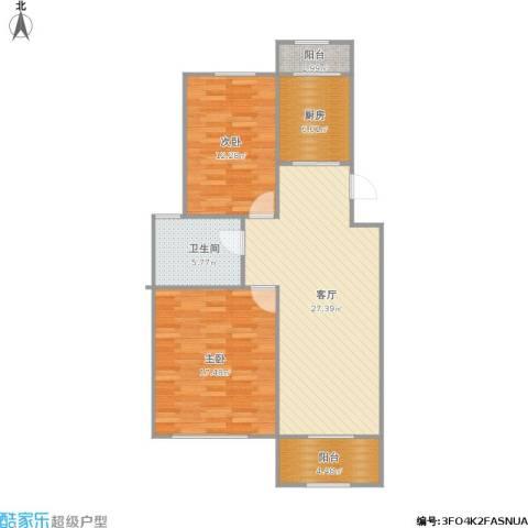 武夷花园牡丹园2室1厅1卫1厨101.00㎡户型图