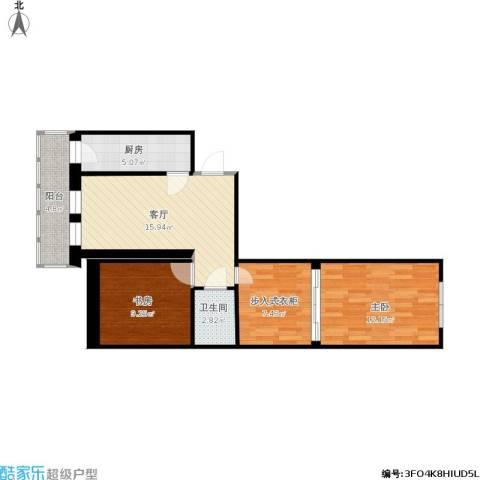 福泽温泉公寓2室1厅1卫1厨82.00㎡户型图