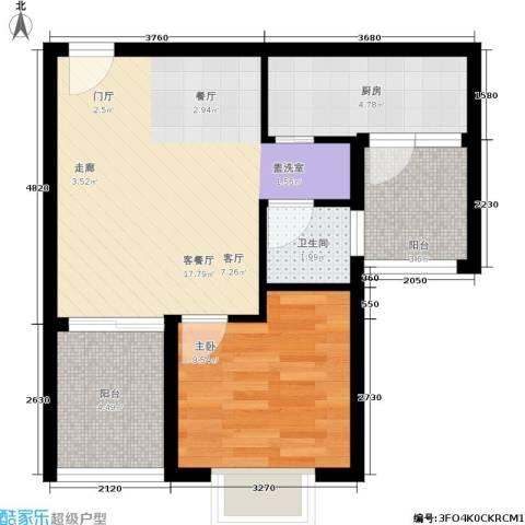 凯旋帝景1室1厅1卫1厨48.00㎡户型图