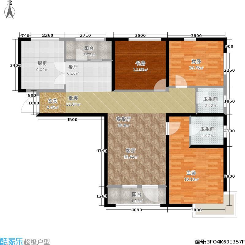 天津湾海景文苑143.00㎡A3户型3室2厅2卫