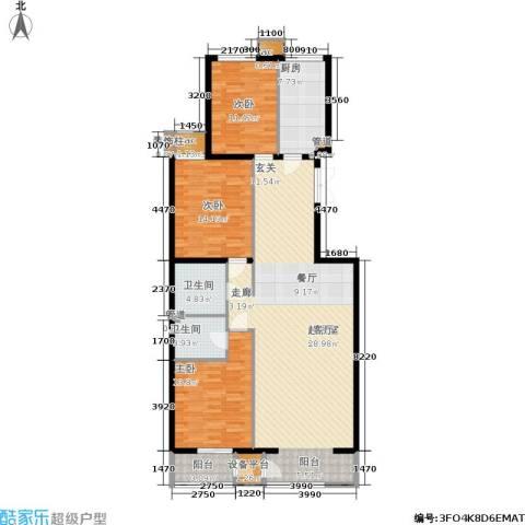 里外里公寓3室0厅2卫1厨151.00㎡户型图