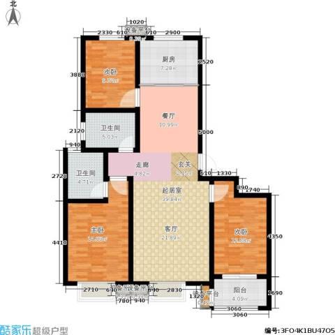 名基凤凰城3室0厅2卫1厨119.00㎡户型图
