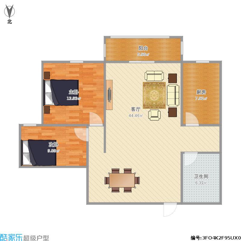 嘉华国际二室二厅93方