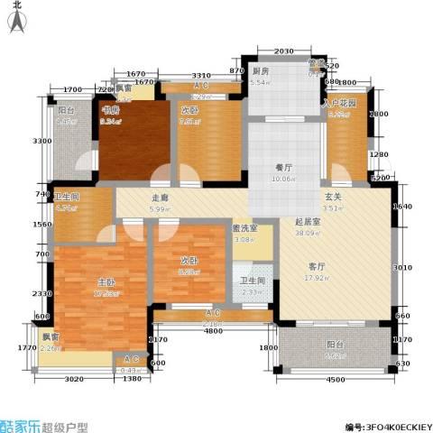 丰源国际御璟台4室0厅2卫1厨144.00㎡户型图