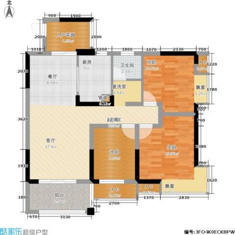 丰源国际御璟台3室0厅1卫1厨101.00㎡户型图