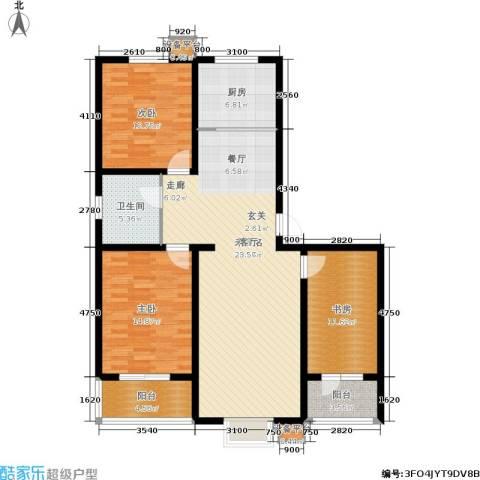 东方新城3室0厅1卫1厨113.00㎡户型图