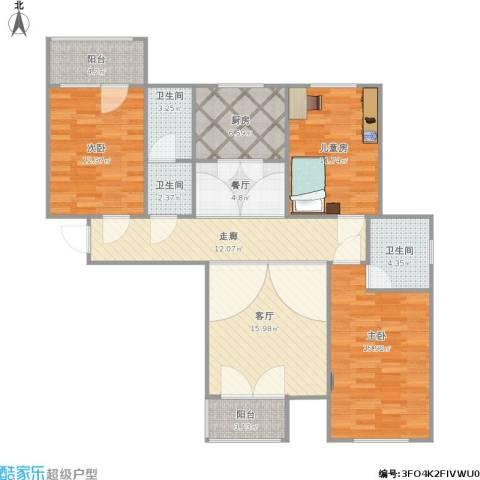 宁泽・新领域3室2厅3卫1厨132.00㎡户型图
