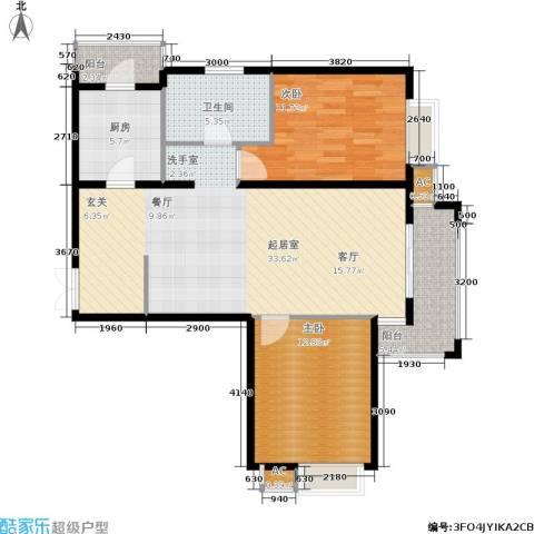 金润凤凰洲2室0厅1卫1厨102.00㎡户型图