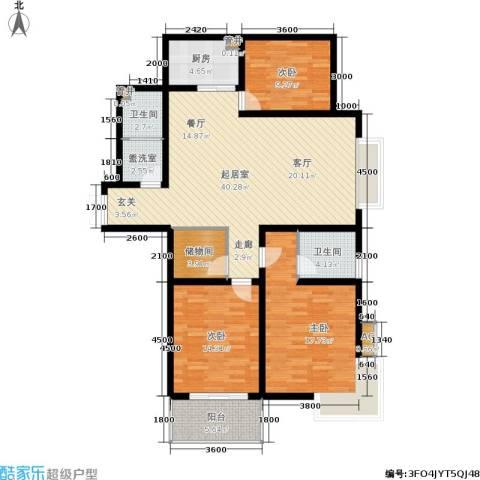 锦绣江南3室0厅2卫1厨142.00㎡户型图