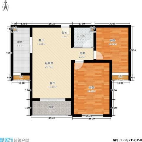 锦绣江南2室0厅1卫1厨91.00㎡户型图