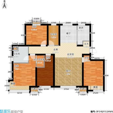 远洋红熙郡4室0厅2卫1厨121.11㎡户型图