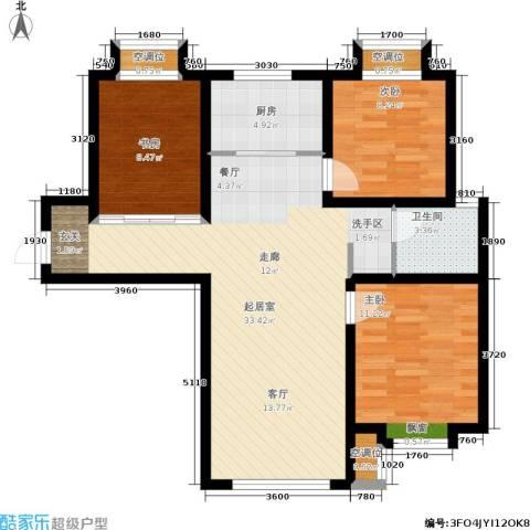 远洋红熙郡3室0厅1卫1厨83.60㎡户型图