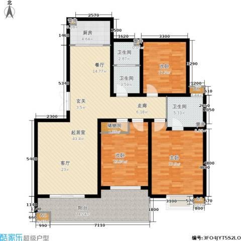 锦绣江南3室0厅3卫1厨145.00㎡户型图