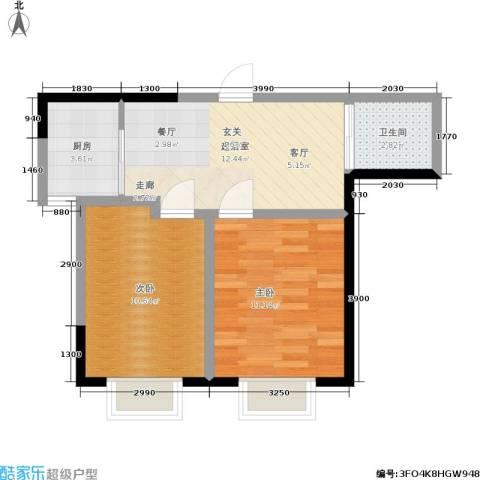 渤海山水云天2室0厅1卫1厨59.00㎡户型图
