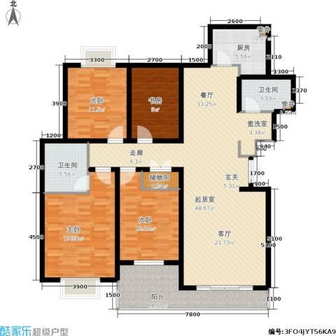 锦绣江南4室0厅2卫1厨159.00㎡户型图