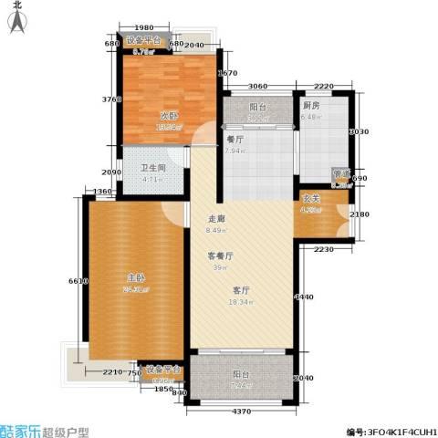 建滔裕花园2室1厅1卫1厨115.00㎡户型图