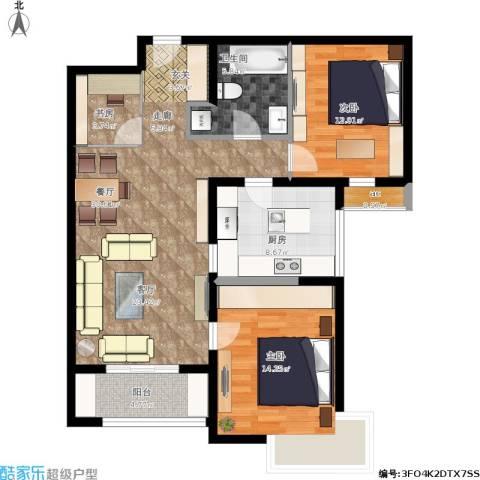 天津湾海景文苑3室1厅1卫1厨115.00㎡户型图