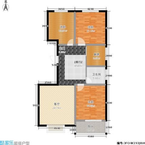 天润国际城3室0厅1卫1厨125.00㎡户型图
