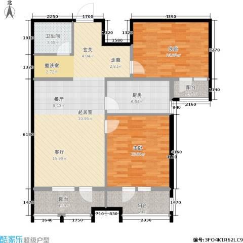 龙鼎天悦2室0厅1卫1厨114.00㎡户型图