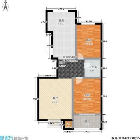 天润国际城2室0厅1卫0厨101.00㎡户型图