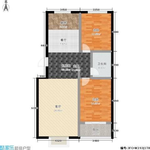 天润国际城2室0厅1卫0厨96.00㎡户型图