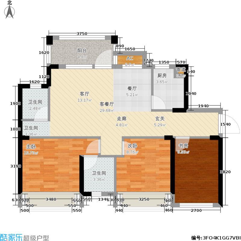 君汇熙庭84.28㎡铂宫4/5栋4-1/5-3户型