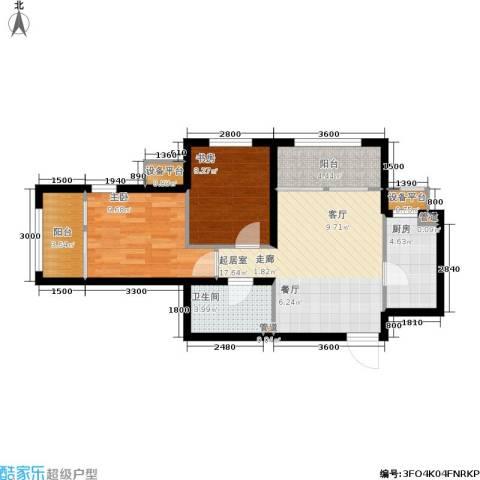 鸿坤·原乡郡2室0厅1卫1厨73.00㎡户型图