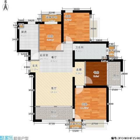 鸿坤·原乡郡4室0厅1卫1厨114.00㎡户型图