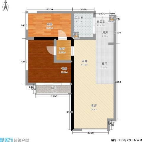 塞纳公馆2室0厅1卫0厨105.00㎡户型图