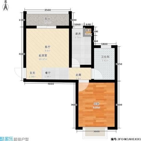廊坊四季家园1室0厅1卫1厨51.00㎡户型图
