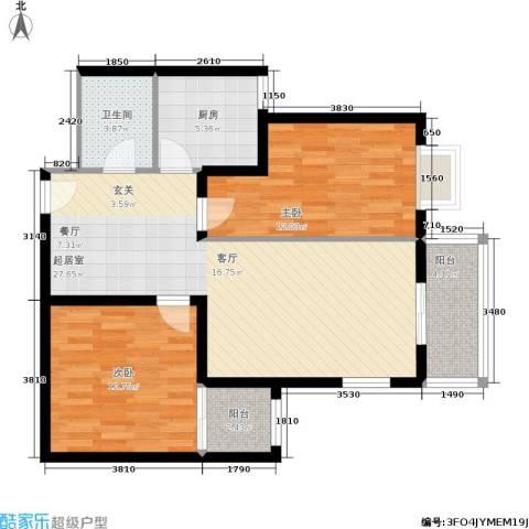 朱雀坊2室0厅1卫1厨97.00㎡户型图