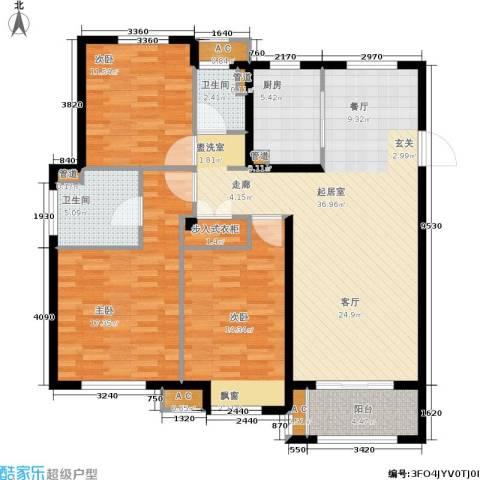 景瑞御江山3室0厅2卫1厨115.00㎡户型图