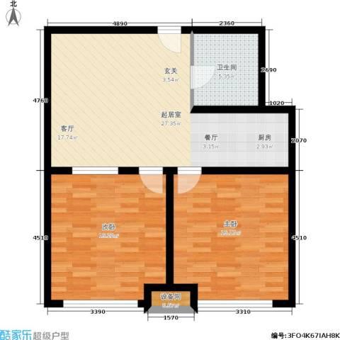 雅都2室0厅1卫0厨75.00㎡户型图