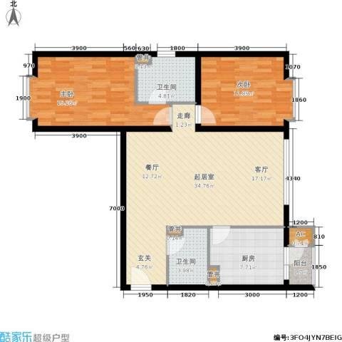 灞柳良居2室0厅2卫1厨114.00㎡户型图