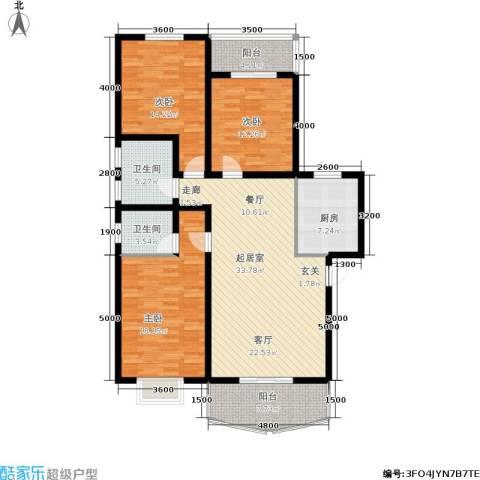 灞柳良居3室0厅2卫1厨151.00㎡户型图