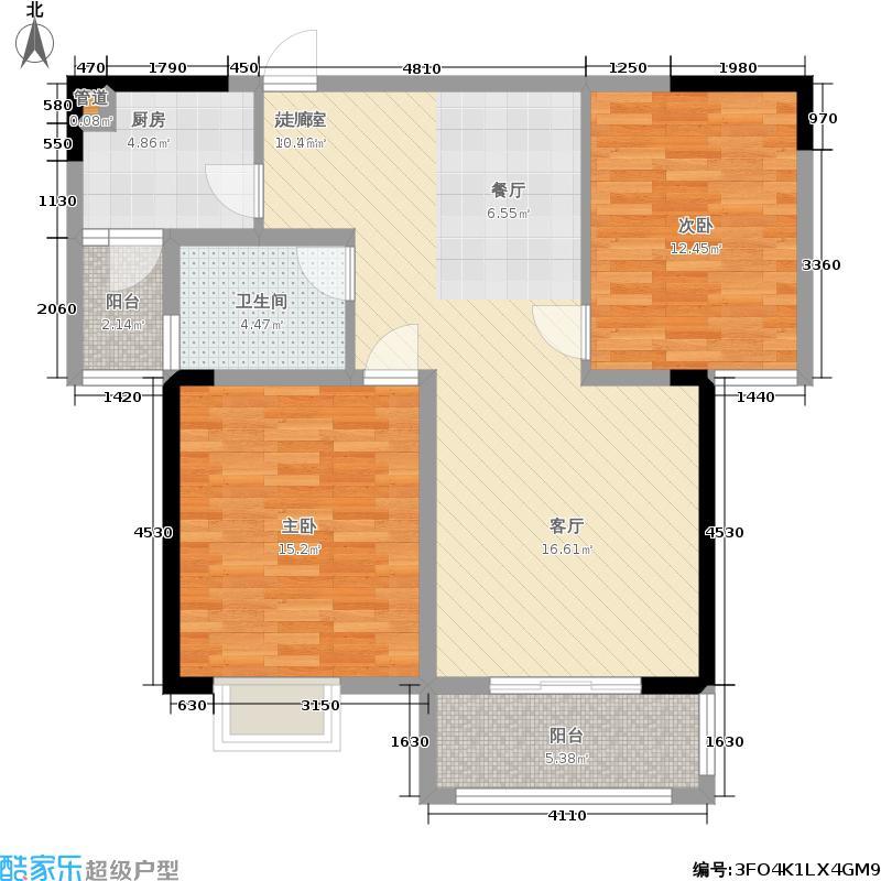 龙湖熙岸89.00㎡G2'户型2室2厅