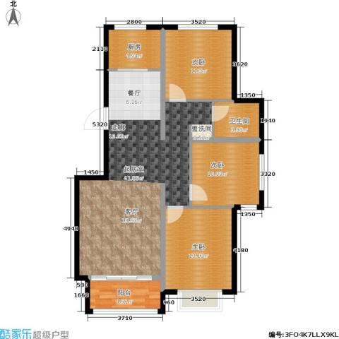 御江南3室0厅1卫1厨126.00㎡户型图