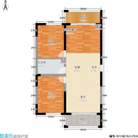 富佳新天地2室0厅1卫0厨123.00㎡户型图