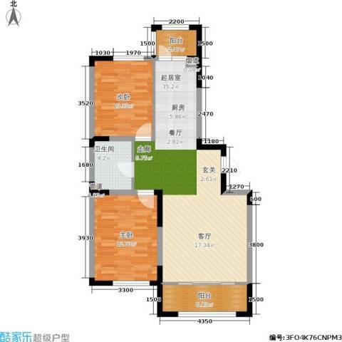富佳新天地2室0厅1卫0厨105.00㎡户型图