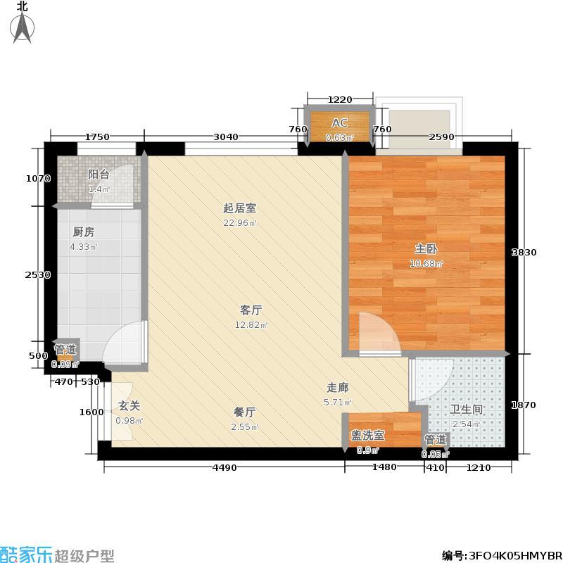 北京新天地61.35㎡三期18D-D反(售罄)户型